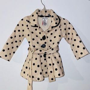 Lilly Wicket Gorgeous Polkadot Coat With Belt